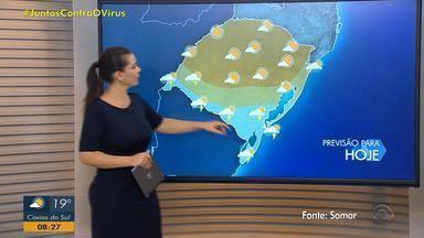 Quarta-feira (29) pode ter chuva fraca no RS; calor segue no estado - Instabilidade começa na fronteira com o Uruguai e avança para outras regiões ao longo do dia.