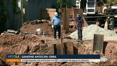 Sanepar antecipa obra para aumentar volume de água em Curitiba - A interligação vai aumentar em 30% o volume de água no sistema.