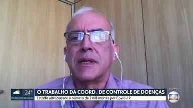 Coordenador do Centro de Controles de Doenças de São Paulo fala do trabalho desempenhado - Paulo Menezes repercute os números de mortos e infectados no estado e fala das ações do Centro de Controle de Doenças.