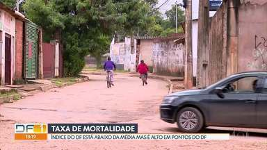Taxa de mortalidade do DF é menor que a média nacional - A alta taxa de mortalidade nas regiões mais pobres do DF preocupa especialistas.