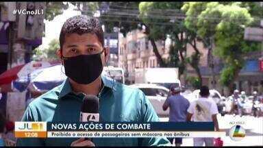 Passageiros estão proibidos de acessar transportes públicos ou privados sem máscara no PA - Passageiros estão proibidos de acessar transportes públicos ou privados sem máscara no Pará
