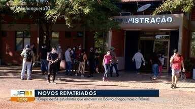 Estudantes repatriados da Bolívia chegam a Palmas e todos testam negativo para coronavírus - Estudantes repatriados da Bolívia chegam a Palmas e todos testam negativo para coronavírus