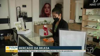 Centro de beleza reforça cuidados durante pandemia - Confira na reportagem.