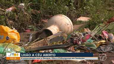 Moradores do bairro Nova República estão preocupados com lixo a céu aberto - Em Santarém, Divisa divulgou números de casos de pessoas com Dengue, Zika e Chikungunya.