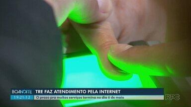 TRE faz atendimento pela internet - O prazo pra muitos serviços termina no dia 6 de maio.
