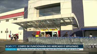 Corpo de funcionária de supermercado que levou um tiro em Araucária é sepultado - Ela foi ferida durante uma briga entre um segurança e um cliente que não queria usar máscara.