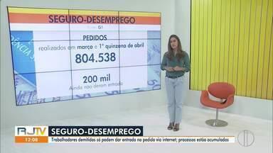 Crise do coronavírus provoca cerca de 150 mil pedidos de seguro-desemprego - Números foram divulgados nesta terça-feira (28) pelo Governo Federal. Somente no Rio de Janeiro foram mais de 42 mil pedidos do seguro em março.
