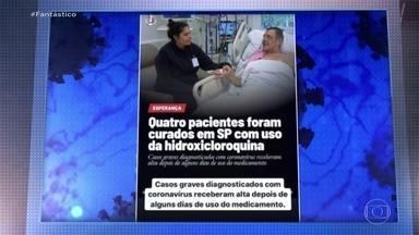 Mais de 70% dos brasileiros com internet já acreditaram em uma fake news sobre coronavírus - Nove entre cada dez brasileiros com acesso à internet já receberam pelo menos um conteúdo falso ou desinformação sobre o coronavírus. Dados são de uma pesquisa que o Fantástico mostra com exclusividade.