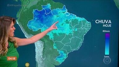 Previsão é de chuva em parte do Sul do país nesta segunda-feira - A temperatura cai no Sul e no Sudeste ao longo da semana. Veja como fica o tempo em todo o país.