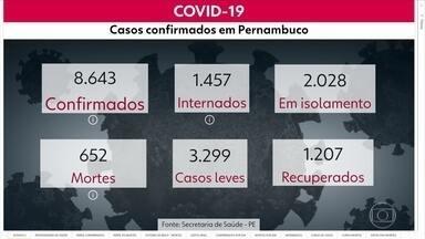 Pernambuco registra 652 mortes e 8.643 casos de Covid-19 - Dados são do boletim de domingo (3), divulgado pela Secretaria Estadual de Saúde.