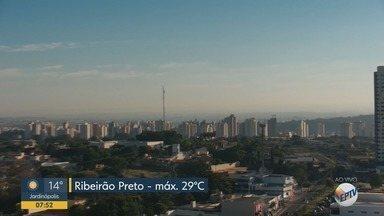 Confira a previsão do tempo nessa segunda-feira (4) em Ribeirão Preto e região - Temperatura deve chegar aos 29º C.