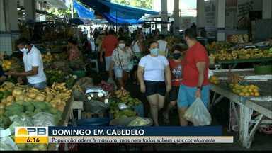 População de Cabedelo adere ao uso de máscaras, mas nem todos sabem utilizar corretamente - Confira os detalhes com o repórter Hebert Araújo.