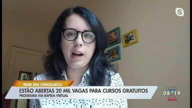 Via Rápida tem 20 mil vagas para cursos gratuitos - Cursos são online.