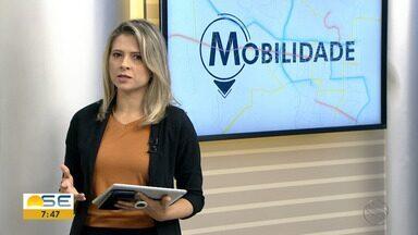 Bloqueios em ruas de Aracaju e outros destaques no Quadro Mobilidade - Bloqueios em ruas de Aracaju e outros destaques no Quadro Mobilidade.