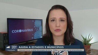 Câmara inicia análise de projeto de lei de socorro após queda na arrecadação - Viviane Abreu traz os detalhes de Brasília