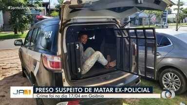 Preso suspeito de matar ex-policial federal em Goiânia - Suspeito foi encontrado no Tocantins. Vítima foi morta a tiros quando parou em semáforo.