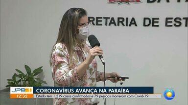 Paraíba tem 1.219 confirmados e 79 mortes por coronavírus - Doença avança no estado.