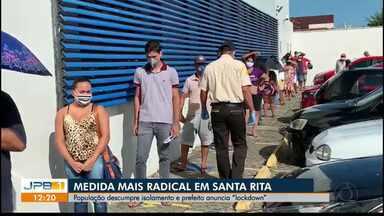 Santa Rita, PB, anuncia bloqueio total da cidade, após aumento de casos de Covid-19 - Anúncio do isolamento social, chamado de 'lockdown', foi feito neste domingo (3) na rede social do prefeito da cidade.