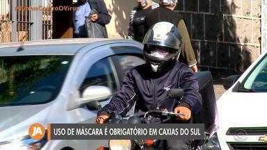 Caxias do Sul torna obrigatório o uso de máscaras nas ruas - Multa para quem não utilizar o item varia entre R$90 e R$ 172,45.