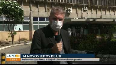 14 novos leitos de UTI estão disponíveis em João Pessoa - Prefeitura e Hospital Universitário firmam parceria contra a Covid-19.