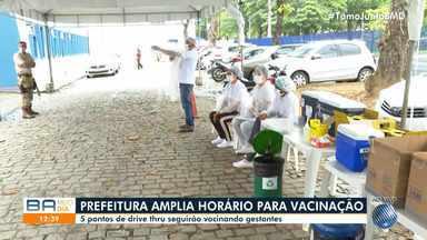 Prefeitura amplia horário da vacinação contra H1N1 em sistema 'drive thru' - Os cinco pontos de drive thru seguirão vacinando gestantes. Esse público é considerado do grupo de risco para a Covid-19.