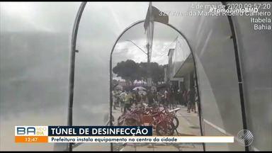 Covid-19: Cidade de Itabela recebe túnel de desinfecção - Confira.