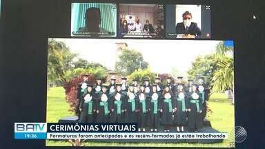 Medicina: Por causa do cornavírus, cerimônias de formatura são realizadas pela internet - Formaturas foram antecipadas e os recém-formados já estão trabalhando.