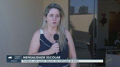 Pandemia: pais querem desconto das instituições de ensino em Ribeirão Preto - Crise causada pela pandemia atrapalhou o orçamento da vida dos pais com crianças matriculadas em escolas particulares.