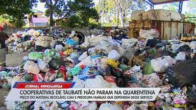 Preço do material reciclável cai e preocupa famílias que dependem desse serviço - Confira reportagem do Jornal Vanguarda desta segunda-feira (4).