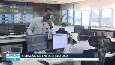 Hidrelétrica adapta trabalhos e quadros de funcionários durante a pandemia - Na Santo Antônio, por exemplo, várias medidas foram tomadas para garantir a saúde dos funcionários. O quadro foi reduzido em alguns setores, mas a geração de energia está normal, de acordo com a direção.
