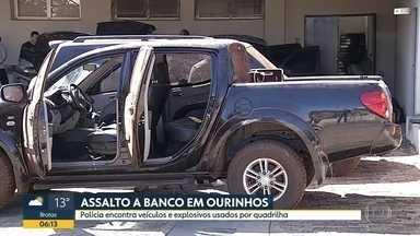 Assalto a banco em Ourinhos - Polícia encontra veículos e explosivos usados por quadrilha.