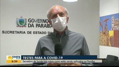 Secretário de Saúde da PB fala sobre como estão sendo aplicados os testes para Covid-19 - Confira a explicação de Geraldo Medeiros.