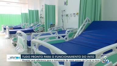 Governo trabalha nos últimos preparativos para entregar hospital de campanha, no Into - Governo trabalha nos últimos preparativos para entregar hospital de campanha, no Into