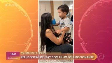 Flay conta que maior desafio no BBB foi ficar longe do filho - Imagens da ex-BBB reencontrando o filho Bernardo no aeroporto comoveram as pessoas nas redes sociais