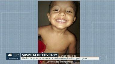 Menino de quatro anos com suspeita de Covid-19 - Rhyan foi internado e morreu com síndrome respiratória aguda grave. Resultado de teste para coronavírus ainda não saiu.