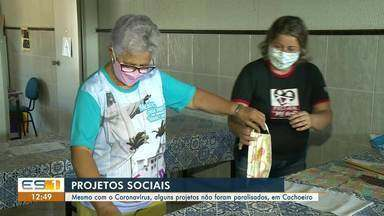 Apesar do coronavírus, projetos sociais em Cachoeiro de Itapemirim, ES, não paralisaram - O trabalho continua mesmo durante a pandemia da Covid-19.