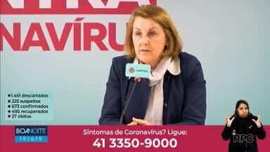 Secretária de Saúde de Curitiba fala sobre a importância da vacinação contra sarampo - Márcia Huçulak voltou a reforçar a importância dos jovens ficarem também em casa.
