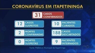 Casos confirmados de coronavírus na região de Itapetininga nesta quarta-feira - Novos casos de coronavírus foram informados nesta quarta-feira (6) pelas prefeituras da região de Itapetininga (SP).