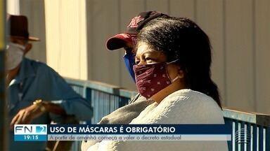 Uso de máscara passa a ser obrigatório em todo Estado de São Paulo - Obrigatoriedade passa a valer a partir desta quinta-feira (7). Quem tem mais informações é o repórter David de Tarso.
