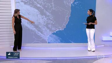Frente fria que estava no Sul do país chega a Minas Gerais - Acompanhe a previsão do tempo para Belo Horizonte e Minas Gerais no mapa.