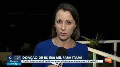 Itajaí recebeu doação de R$ 500 mil de um banco para combate ao coronavírus - Itajaí recebeu doação de R$ 500 mil de um banco para combate ao coronavírus