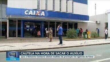 Içara e Balneário Camboriú adotam medidas de prevenção nas agências da Caixa - Içara e Balneário Camboriú adotam medidas de prevenção nas agências da Caixa