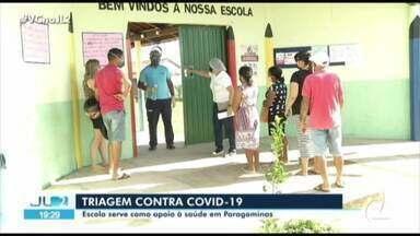 Em Paragominas, escola pública se torna triagem para pacientes suspeitos de Covid-19 - Medida ajuda a desafogar postos de saúde e distribuir melhor pacientes de acordo com a necessidade.