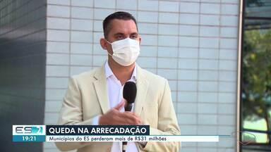 Municípios do ES perderam mais de R$ 31 milhões durante pandemia do novo coronavírus - Se o estado não arrecada, os municípios não recebem o repasse dos impostos.