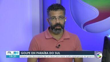 Idoso descobre golpe ao tentar sacar auxílio emergencial em Paraíba do Sul - Homem, de 34 anos, usou os documentos da vítima para pegar o dinheiro. Polícia Civil foi até a casa dele e conseguiu recuperar o valor.