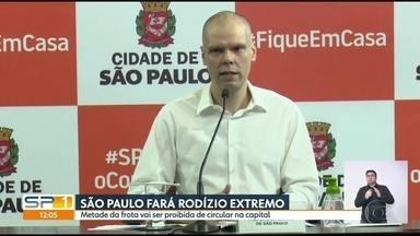 Prefeitura da capital vai adotar medidas rigorosas para circulação de veículos - As medidas forrm anunciadas pelo prefeito Bruno Covas e e entram em vigor a partir de segunda, 11 de maio.