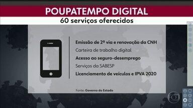Aplicativo do Poupatempo começa a funcionar nesta quinta-feira (07) - Ao todo são 60 serviços disponíveis para a população, como renovação de CNH.