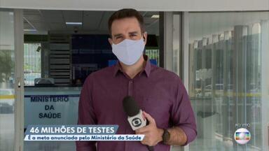 Ministério da Saúde anuncia meta de 46 milhões de testes contra covid-19 até o fim do ano - Eo Governo também anunciou a habilitação de 23 leitos de UTI para hospitais de Niterói, no Rio de Janeiro.