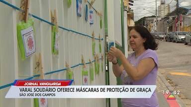 Voluntárias produzem máscaras para doação em 'varal solidário' em São José dos Campos - Confira reportagem do Jornal Vanguarda desta sexta-feira (8).