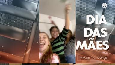 Dia das Mães: filhas cozinham para Kátia Barbosa - Cheio de descontração, trio prepara receita especial